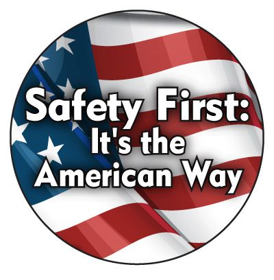 Safety Hard Hat Labels - Safety First It's The American Way