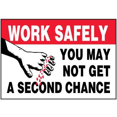 Work Safely Label