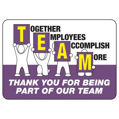 Together Employees Accomplish More Sign