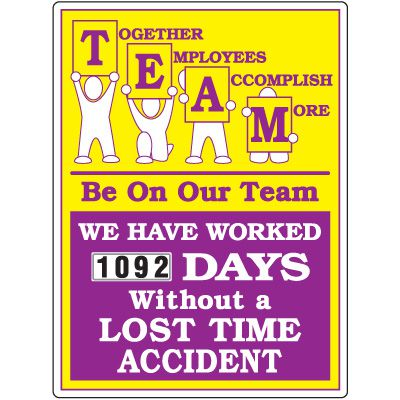 Team Together Employees Accomplish More Scoreboard