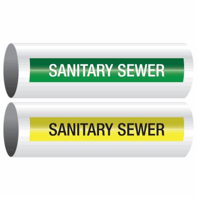 Sanitary Sewer - Opti-Code™ Self-Adhesive Pipe Markers
