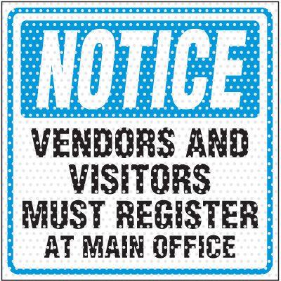 See-Thru Register At Office Labels