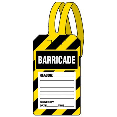 Barricade Self-Fastening Plastic Tags