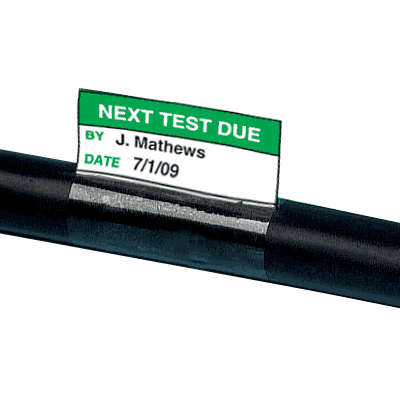 Electrical Safety Write-On Cable Markers - Next Test Due