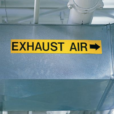 Exhaust - Economy Self-Adhesive Duct Markers