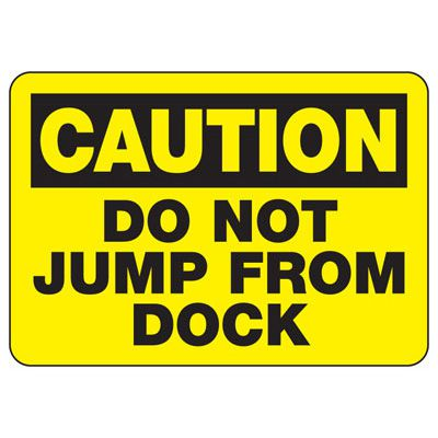 Caution Do Not Jump Sign