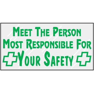 Responsible For Your Safety Mirror Label