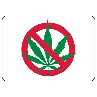 No Smoking Signs - (No Smoking Marijuana Symbol)
