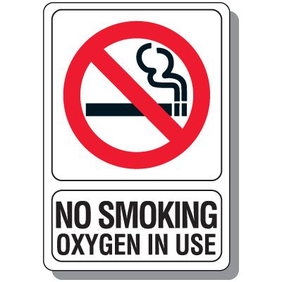 image about Oxygen in Use Sign Printable referred to as No Using tobacco Oxygen Inside Employ the service of Signal