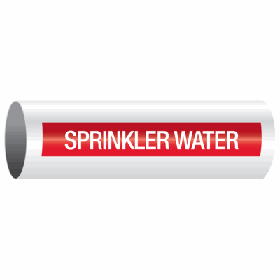 Sprinkler-Water - Opti-Code® Self-Adhesive Pipe Marker