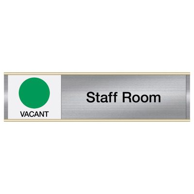 Staff Room-Vacant/Occupied - Engraved Facility Sliders