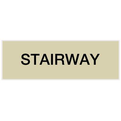 Stairway - Engraved Standard Worded Signs