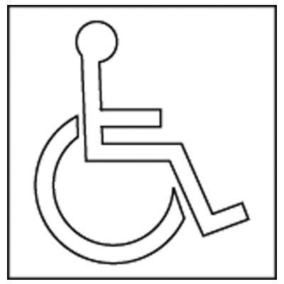 Handicapped Symbol Stencil