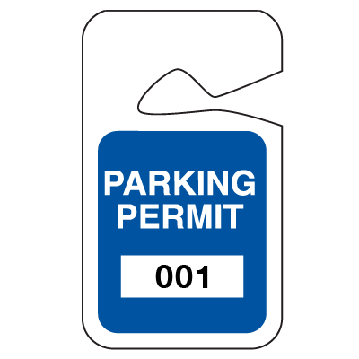 Stock Parking Permit Tags