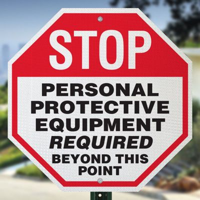 Stop Personal Protective Equipment Sign