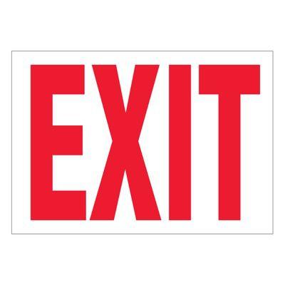 Super-Stik Signs - Exit