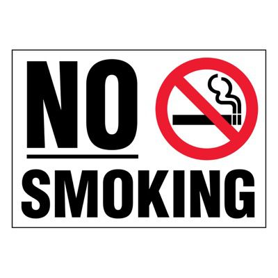 Super-Stik Signs - No Smoking