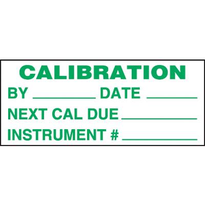 Calibration Super-Stik Status Label