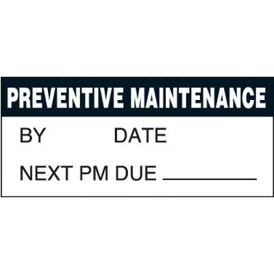 Maintenance Super-Stik Status Label