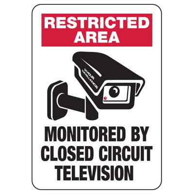 Area Monitored By Closed Circuit Television Sign