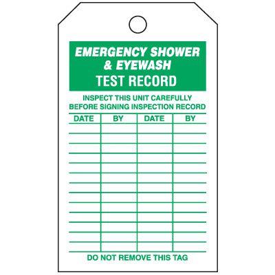 Emergency Shower & Eyewash Tag