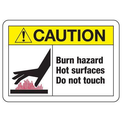 Temperature Warning Signs - Burn Hazard