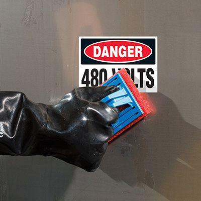 ToughWash® Labels - Danger 480 Volts
