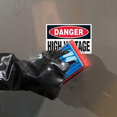 ToughWash® Labels - Danger High Voltage