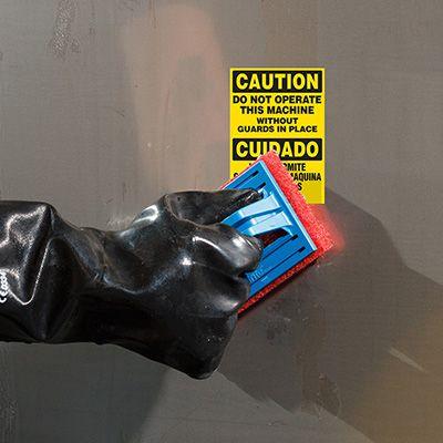 ToughWash® Labels - Caution Do Not Operate (Bilingual)