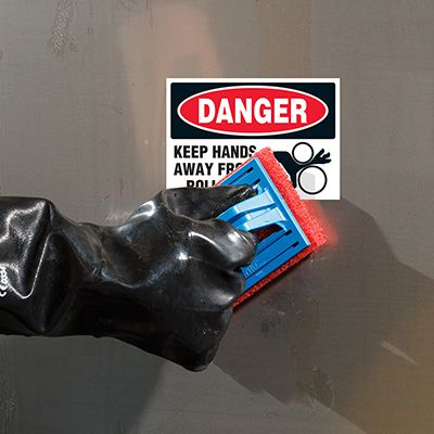 ToughWash® Labels - Danger Keep Hands Away