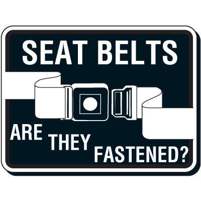 Seat Belt Safety Sign