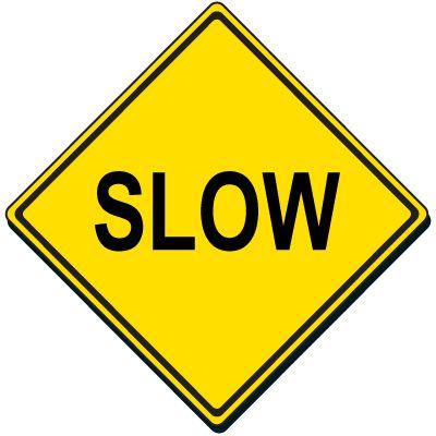 Reflective Warning Sign - Slow