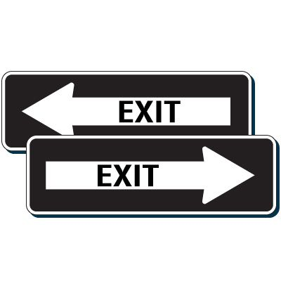 Directional Exit Sign