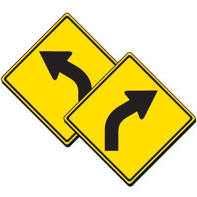 Curved Arrow Symbol Sign