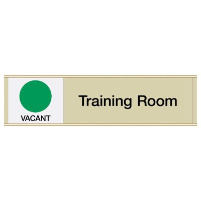 Training Room-Vacant/Occupied - Engraved Facility Sliders