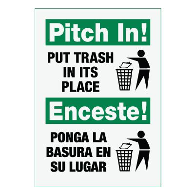 Bilingual Pitch In! Sign