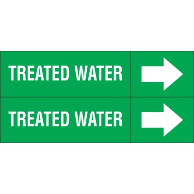 Treated Water - Weather-Code™ Self-Adhesive Outdoor Pipe Markers