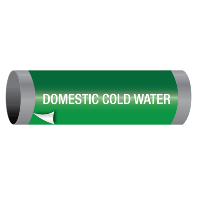 Domestic Cold Water - Ultra-Mark® Self-Adhesive High Performance Pipe Markers