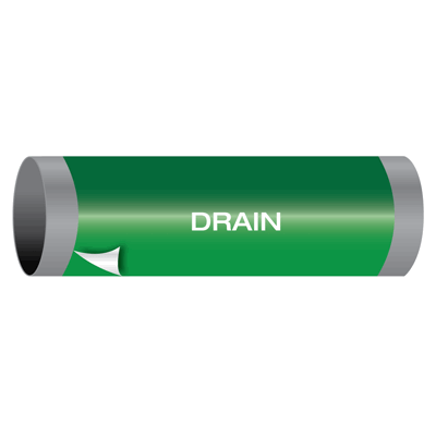 Drain - Ultra-Mark® Self-Adhesive High Performance Pipe Markers