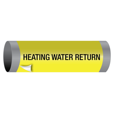 Heating Water Return - Ultra-Mark® Self-Adhesive High Performance Pipe Markers