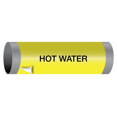 Hot Water - Ultra-Mark® Self-Adhesive High Performance Pipe Markers