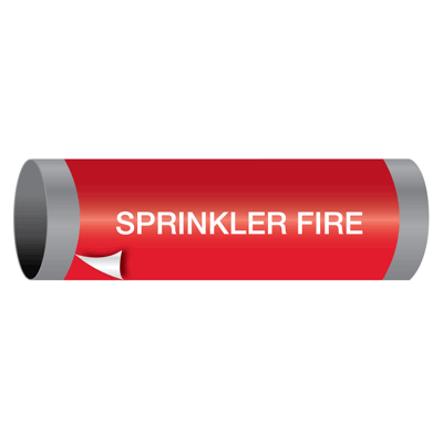 Sprinkler Fire - Ultra-Mark® Self-Adhesive High Performance Pipe Markers