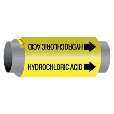 Hydrochloric Acid - Ultra-Mark® Self-Adhesive High Performance Pipe Markers