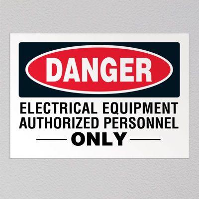 Voltage Warning Labels - Danger Electrical Equipment