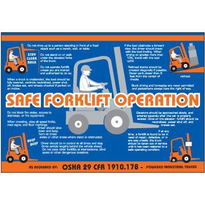 Safe Forklift Operation Wallchart
