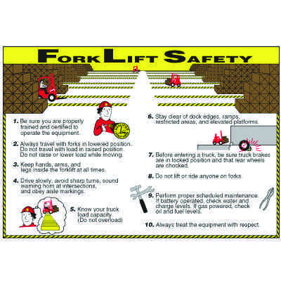Forklift Safety Wallchart