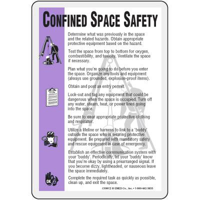 Confined Space Safety Wallet Card