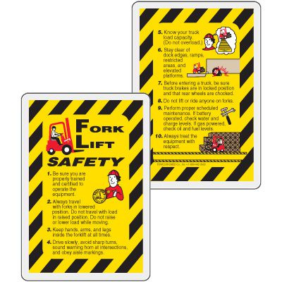 Forklift Safety Wallet Card