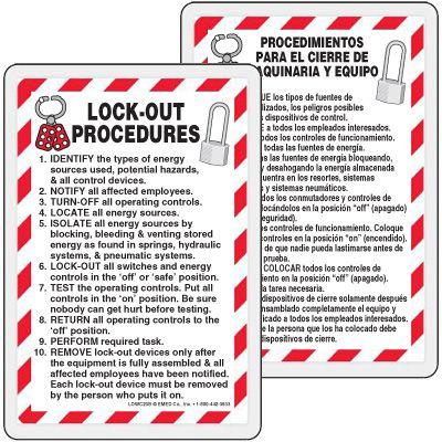 Bilingual Lockout Procedures Wallet Card