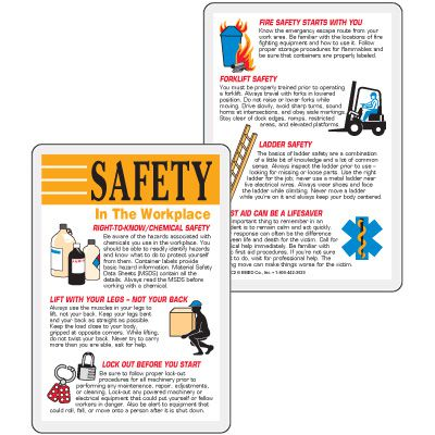 Workplace Safety Wallet Card